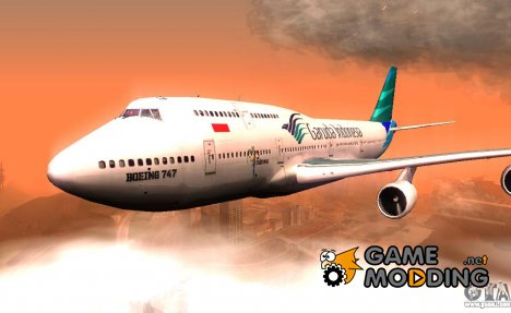 Boeing 747-400 Garuda Indonesia for GTA San Andreas