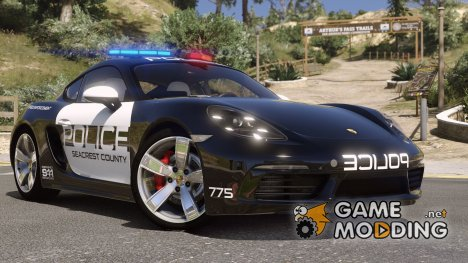 Porsche 718 Cayman S Hot Pursuit Police for GTA 5