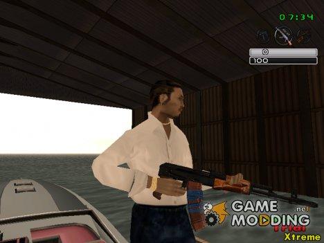 Ак74 без приклада для GTA San Andreas