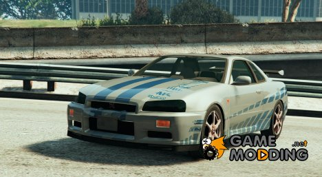 Nissan Skyline R34 Paul Walker (2Fast 2Furious) для GTA 5