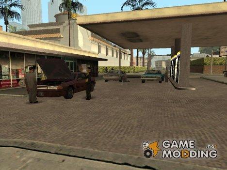 Оживлённая заправка в Лос Сантосе для GTA San Andreas