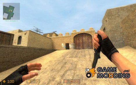 Valve Default Knife on Mr.John's BF3 Knife anims для Counter-Strike Source