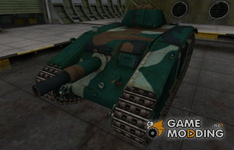Французкий синеватый скин для ARL V39 для World of Tanks