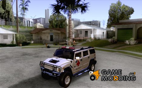 AMG H2 HUMMER - RED CROSS (ambulance) для GTA San Andreas