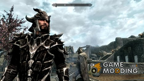 Dark Dragonscale Armor with shield for TES V Skyrim