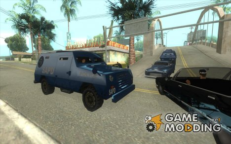 S.W.A.T. и FBI Truck ездят по улицам for GTA San Andreas