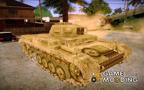 Panzerkampwagen II Snow for GTA San Andreas