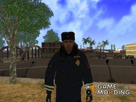 Сотрудник ДПС в зимней униформе v.2 for GTA San Andreas