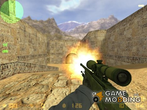 Awp cs go battle scarred for Counter-Strike 1.6