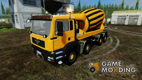MAN TGS 8X8 Миксер for Farming Simulator 2015