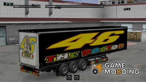 Valentino Rossi trailer for Euro Truck Simulator 2