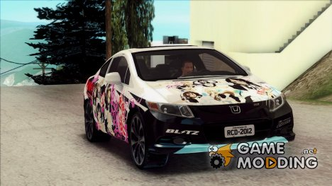 Honda Civic SI 2012 - K-on Itasha для GTA San Andreas