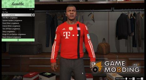 Футболка вратаря FC Bayern для Франклина для GTA 5