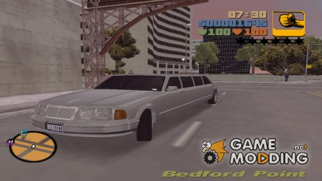 Лимузин HQ for GTA 3