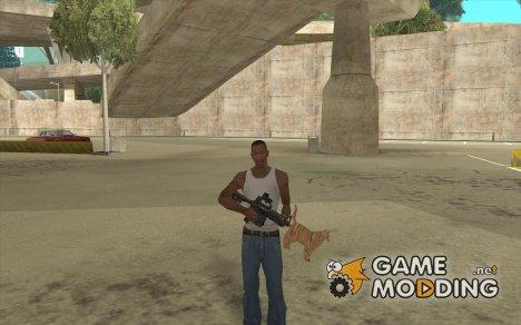 Кот вместо глушителя на M4 for GTA San Andreas
