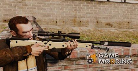 Снайперская винтовка AW L115A1 с глушителем v2 for GTA 4