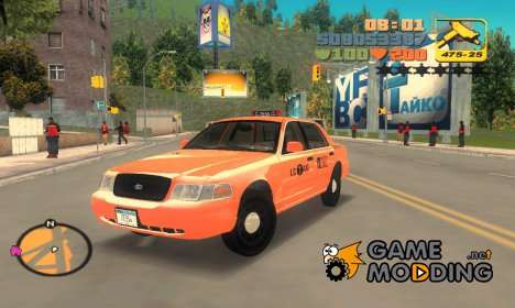 Ford Crown Victoria P70 LWB Taxi 2007-2011 г для GTA 3