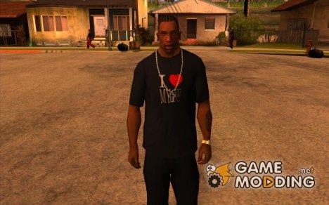 Футболка I Love My IV for GTA San Andreas