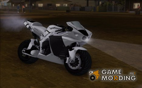 Yamaha YZF R1 Black and White for GTA San Andreas