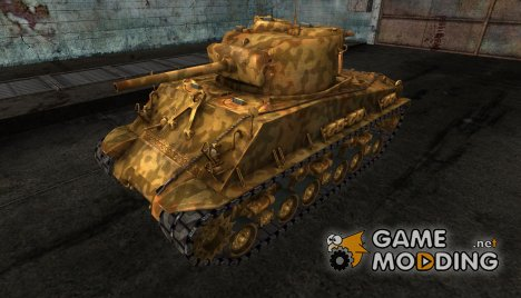 шкурка для M4A3E8 Sherman №41 for World of Tanks