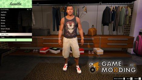 Майка Железный человек для Франклина for GTA 5