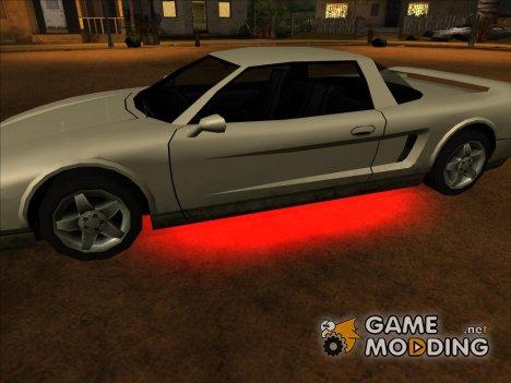 Неоновая подсветка для машин beta для GTA San Andreas
