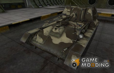 Пустынный скин для СУ-76 for World of Tanks