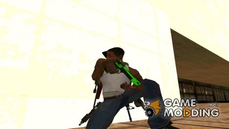 Небольшой пак оружия для Grove Street для GTA San Andreas