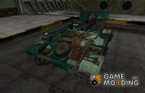 Французкий синеватый скин для AMX 13 F3 AM для World of Tanks