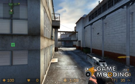 Silver Black Deagle для Counter-Strike Source