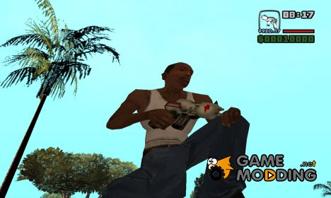 Инопланетный пистолет для GTA San Andreas