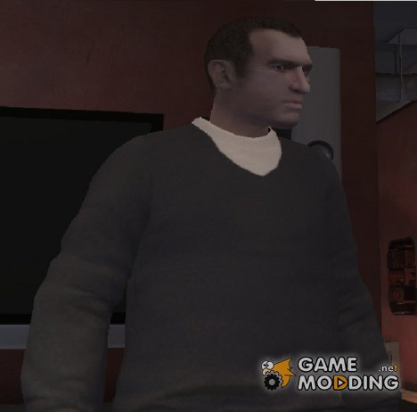 Blue V-Neck Sweater для GTA 4