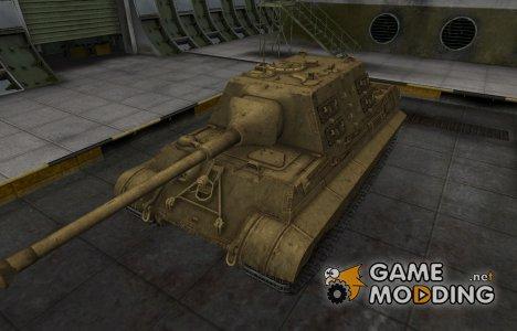 Пустынный скин для танка 8.8 cm Pak 43 JagdTiger for World of Tanks