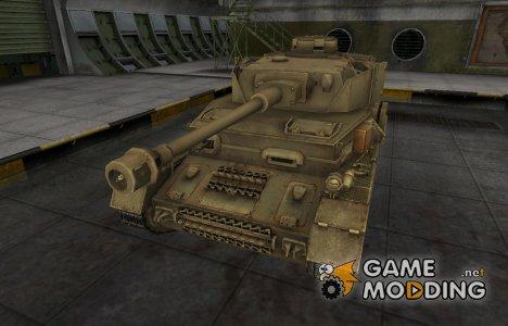 Пустынный скин для танка PzKpfw IV hydrostat. для World of Tanks