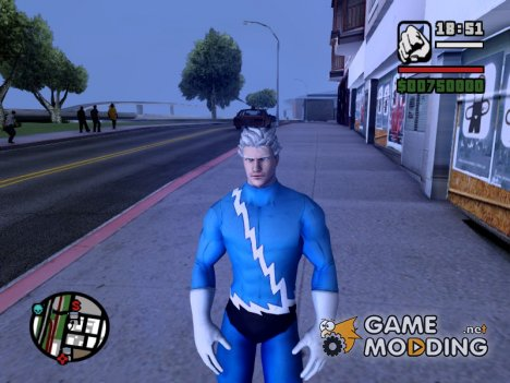 Quicksilver Comics skin для GTA San Andreas