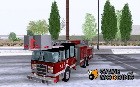 Pierce Tower Ladder 54 Chicago Fire Department for GTA San Andreas