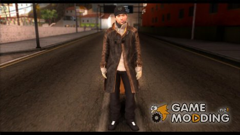 Aiden Pearce from Watch Dogs v10 для GTA San Andreas
