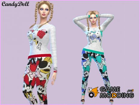 CandyDoll Cute Minnie mouse Set для Sims 4