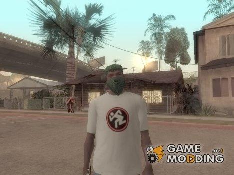 """Новая футболка CJ """" D.R.I. """" для GTA San Andreas"""