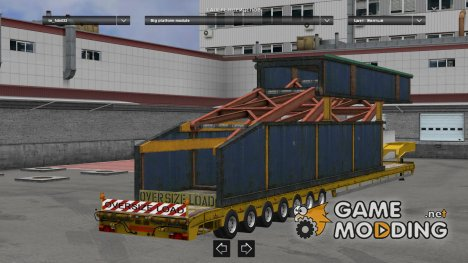 Oversize trailers 1.22 fixed for Euro Truck Simulator 2