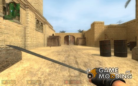 Crash's machete on DMG's Animations для Counter-Strike Source