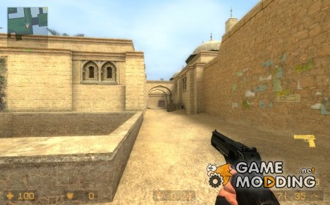 Black&Bronze Default desert eagle для Counter-Strike Source