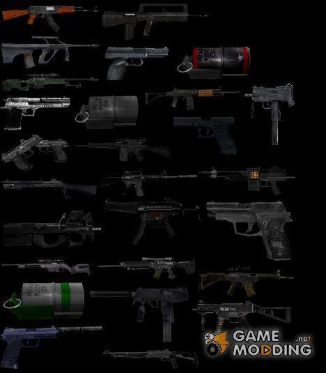 High-Poly Pack for 1.6 (Dropped weapons) for Counter-Strike 1.6