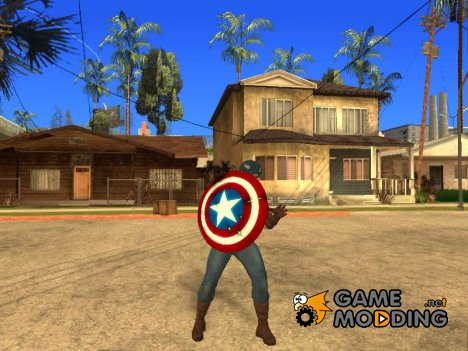 Captain America shield v1 для GTA San Andreas