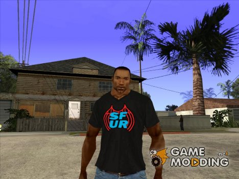 CJ в футболке (SFUR) for GTA San Andreas