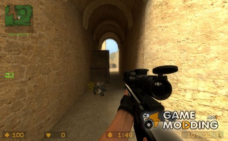 Golden AWP on Unkn0wn's Animation for Counter-Strike Source
