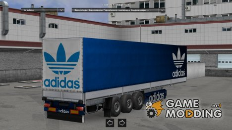 Sport Theme Trailers Pack v 2.1 for Euro Truck Simulator 2
