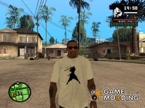Футболка с логотипом Бой с тенью for GTA San Andreas
