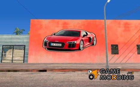 Audi R8 Wall Grafiti для GTA San Andreas