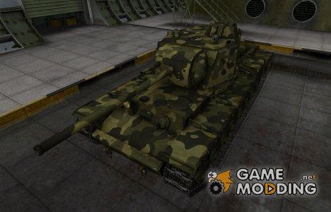 Скин для КВ-4 с камуфляжем для World of Tanks